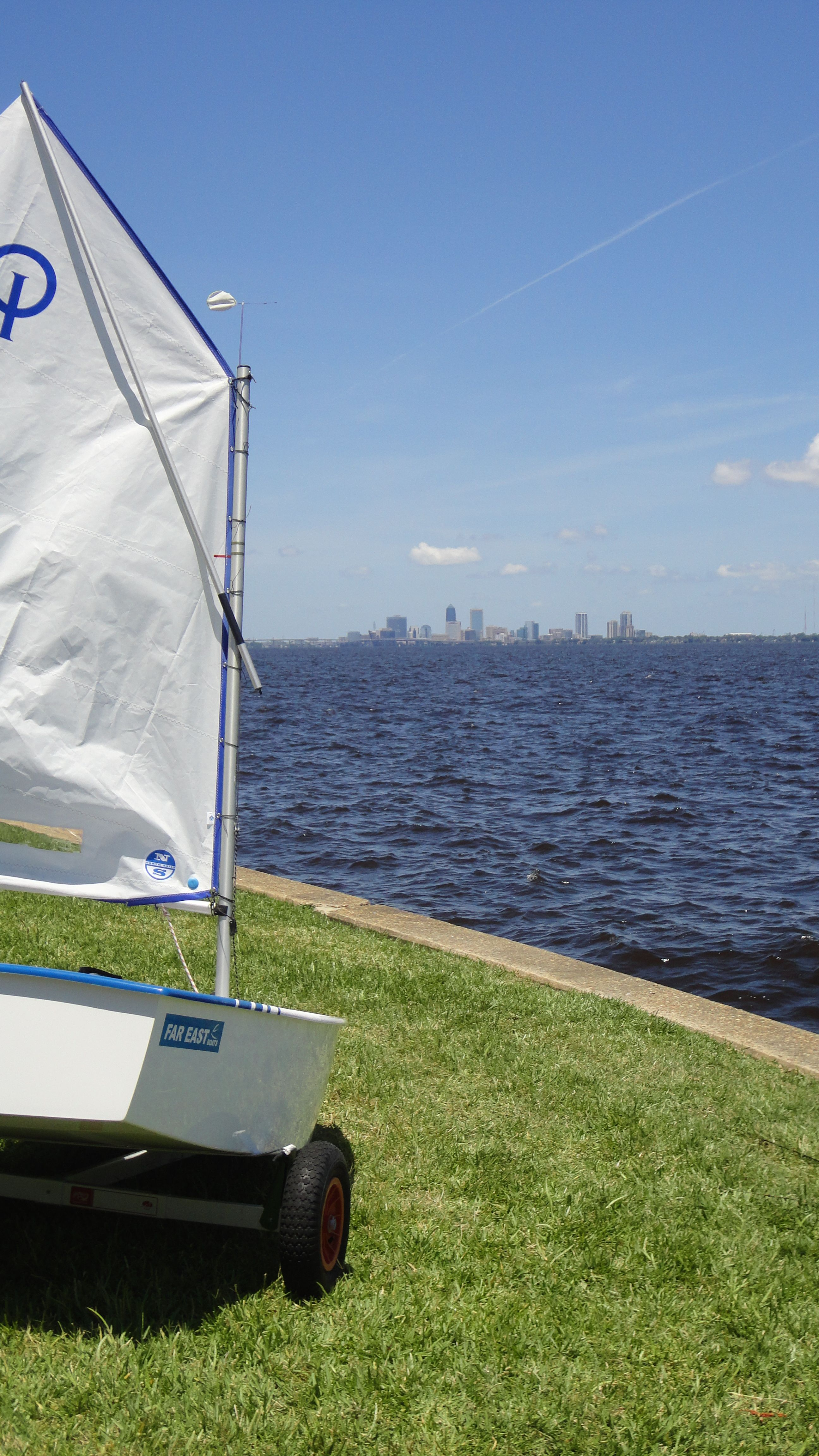 Our new Optis by the Jacksonville Skyline from the Florida
