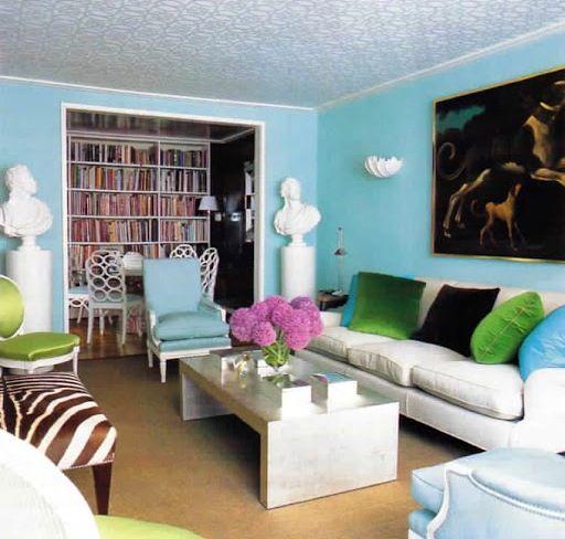 turquoise room images Living decorado por James Andrew decor