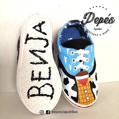 Pepés Zapatillas Pintadas a Mano toy story nombre
