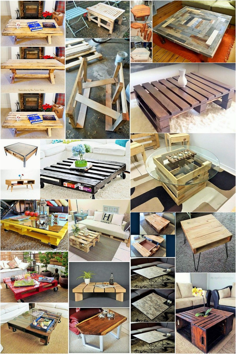 Wood Pallet Coffee Table Ideas Diy And Craft Making