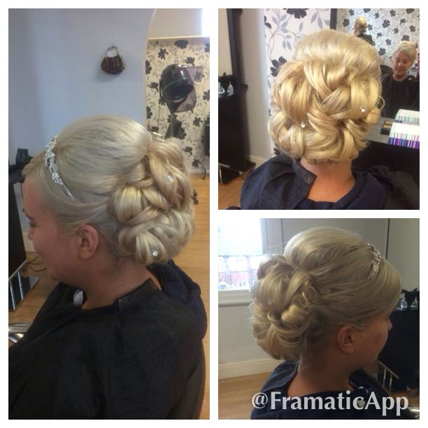 My Wedding Hair Up Do Clip In Extensions Used Diamante Pins And