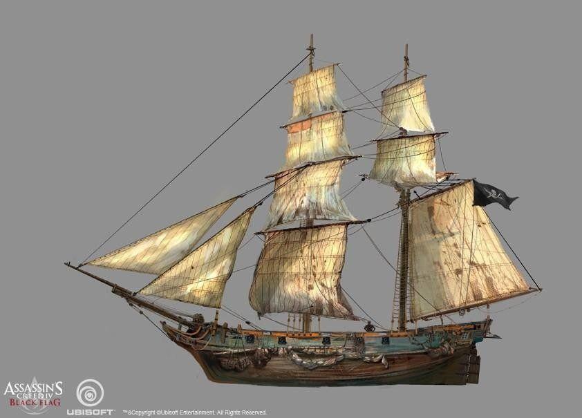 Assassin S Creed Iv Black Flag Kobe Sek Sailing Art Assassins Creed Black Flag Ship Art