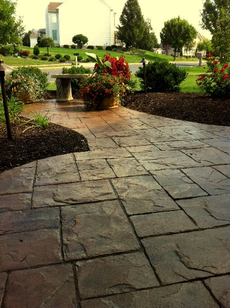 stamped concrete patio designs | ... Stamped Concrete Patio Designer Master Plan Landscape Design