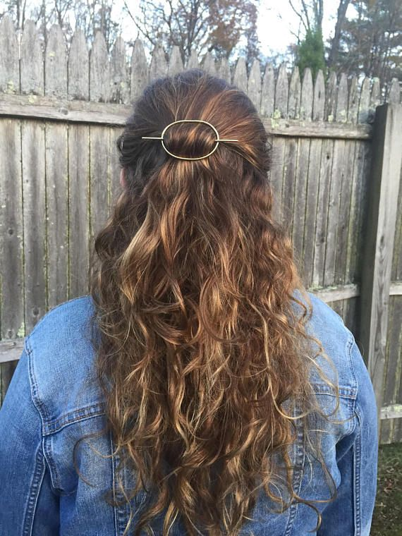Brass Oval Hair Clip Hair Slide Hair Stick Hair Pin Barrette Etsy Hair Aesthetic Hair Hair Inspiration