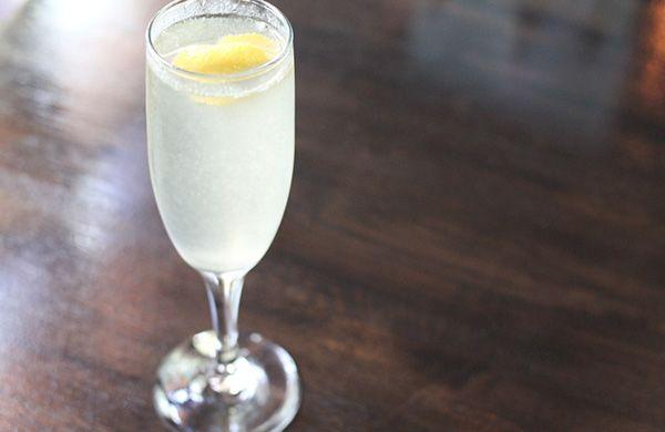Lemon wedge and a sugared rim