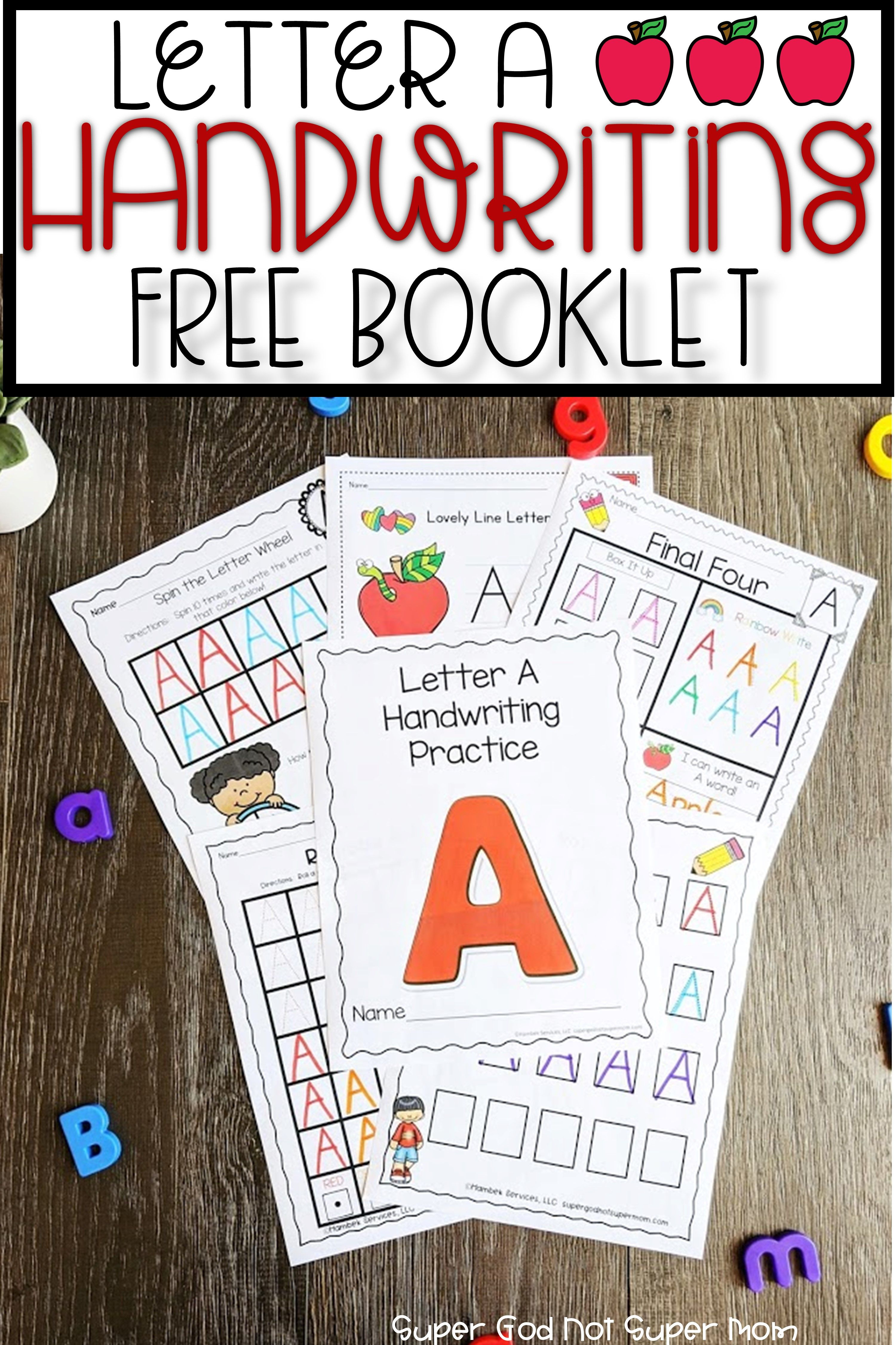 Free Letter A Handwriting Booklet In