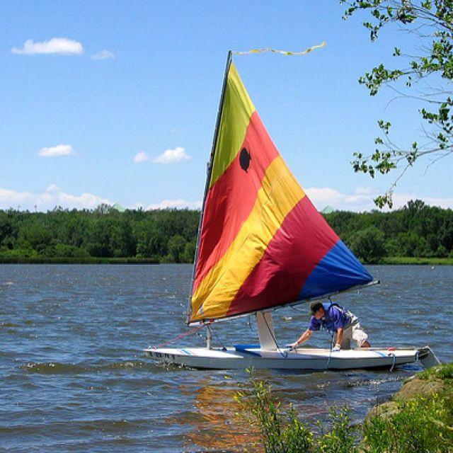 Sunfish Sailboat Sailing Sailboat Small Sailboats