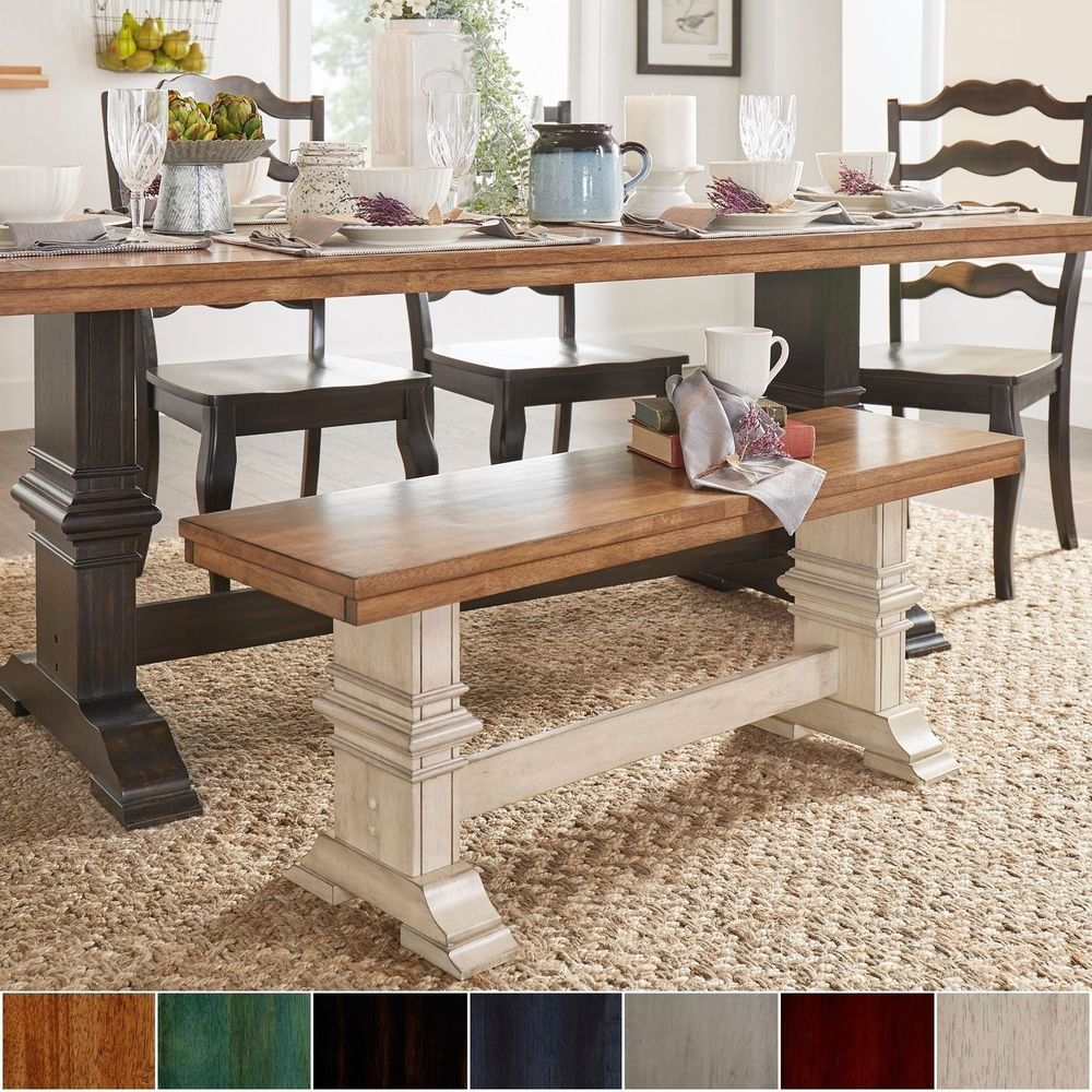 Brilliant Farmhouse Wood Bench For Dining Table Rustic Trestle Legs Ocoug Best Dining Table And Chair Ideas Images Ocougorg