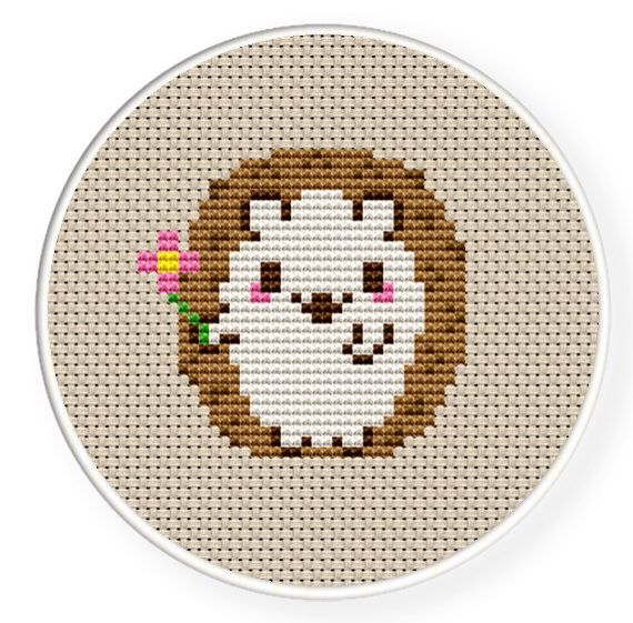 New Artist Large Pattern Exclusive Pattern Hedge Hog Breakfast- Modern Cross Stitch Playful Animals
