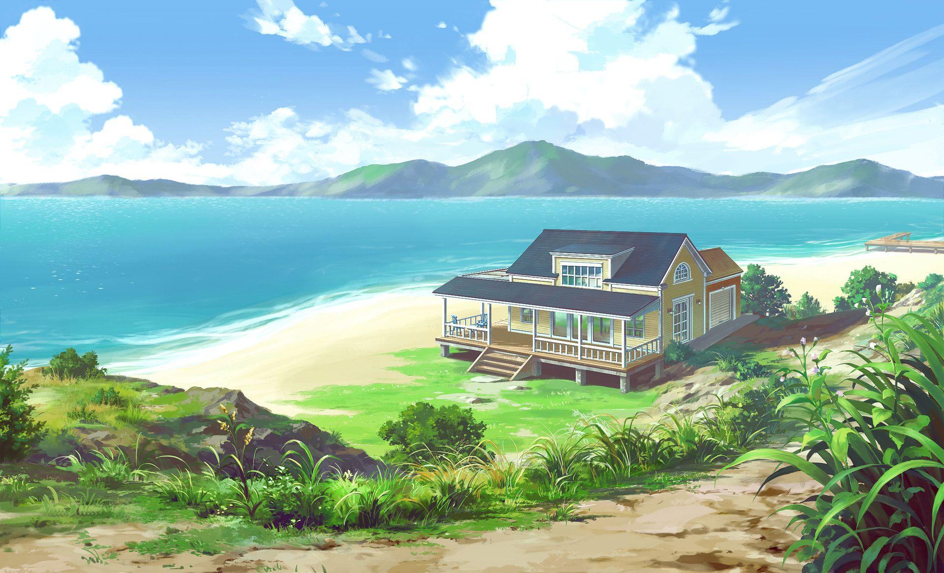 city in the sky anime Google Search Anime scenery, Sky