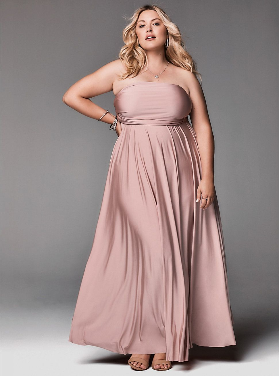 e9e19b6539f SPECIAL OCCASION PINK STUDIO KNIT CONVERTIBLE MAXI DRESS -- from Torrid