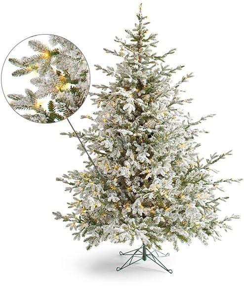 Aspen Pine Flocked Tree Christmas Tree Realistic Artificial Christmas Trees Tree