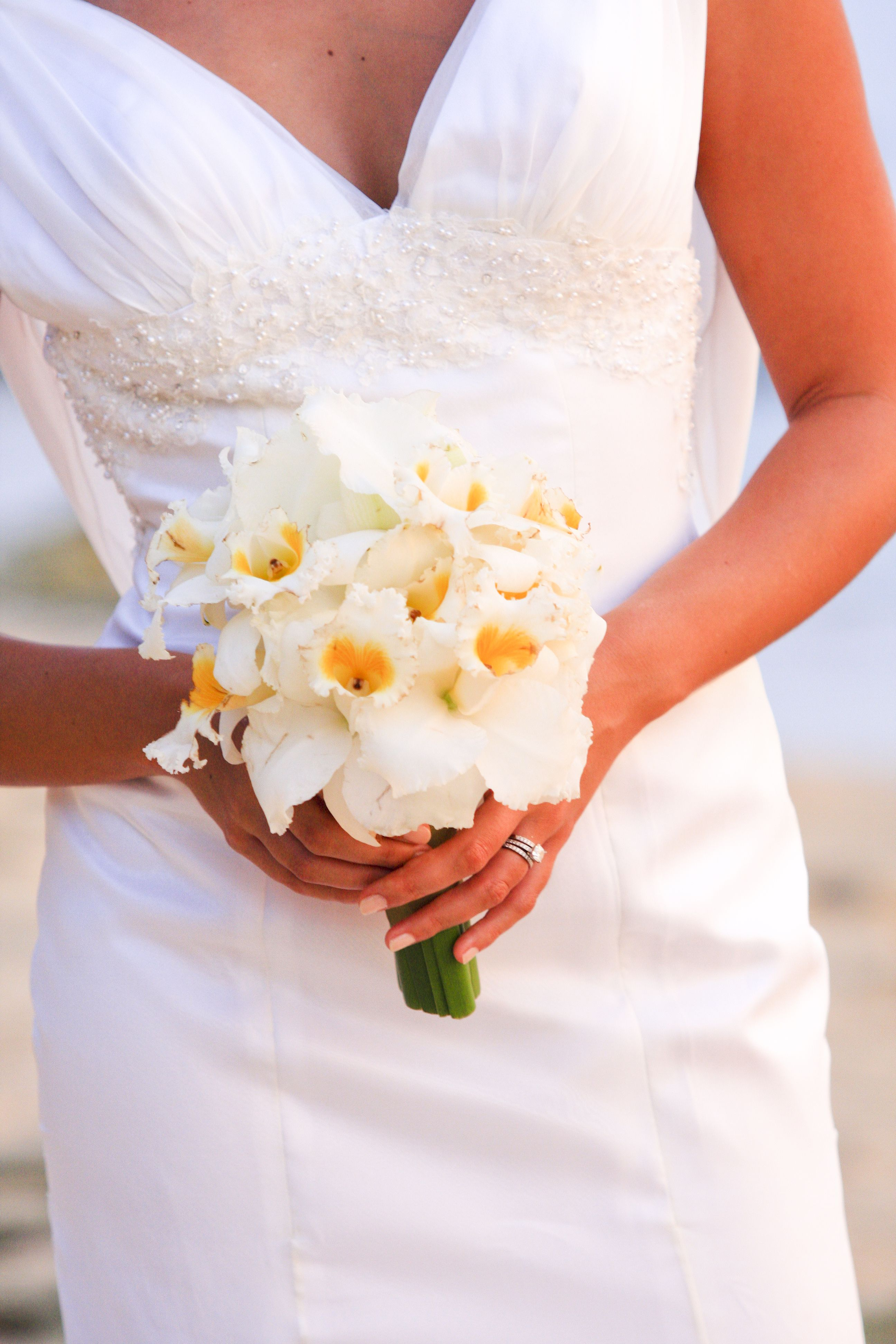 Posey White Yellow Cattleya Orchids Weddings In Thaland