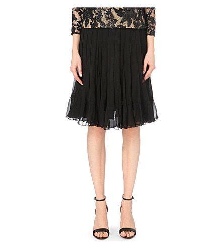 DIANE VON FURSTENBERG Addyson Silk-Chiffon Skirt. #dianevonfurstenberg #cloth #skirts