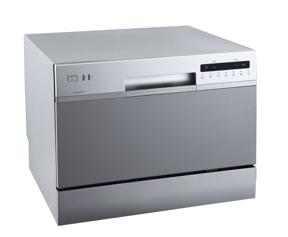 Edgestar Dwp62sv Silver 22 Inch Wide 6 Place Setting Energy Star Rated Countertop Dishwasher In 2021 Countertop Dishwasher Countertops Black Dishwasher