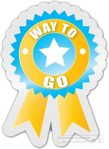 Good Job Ribbon Clip Art | ... : way-to-go-motivational-award ...