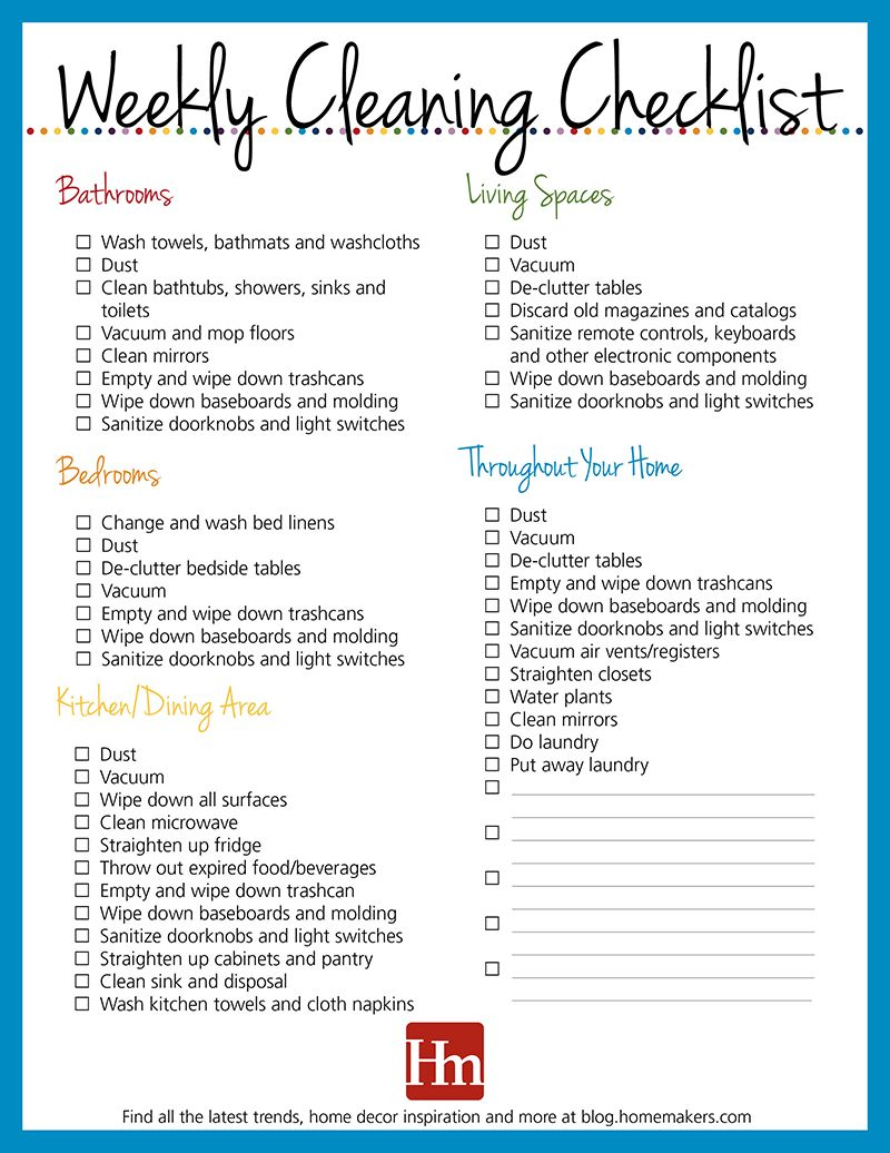 Free Printables Daily Weekly Monthly Cleaning Schedule Hm
