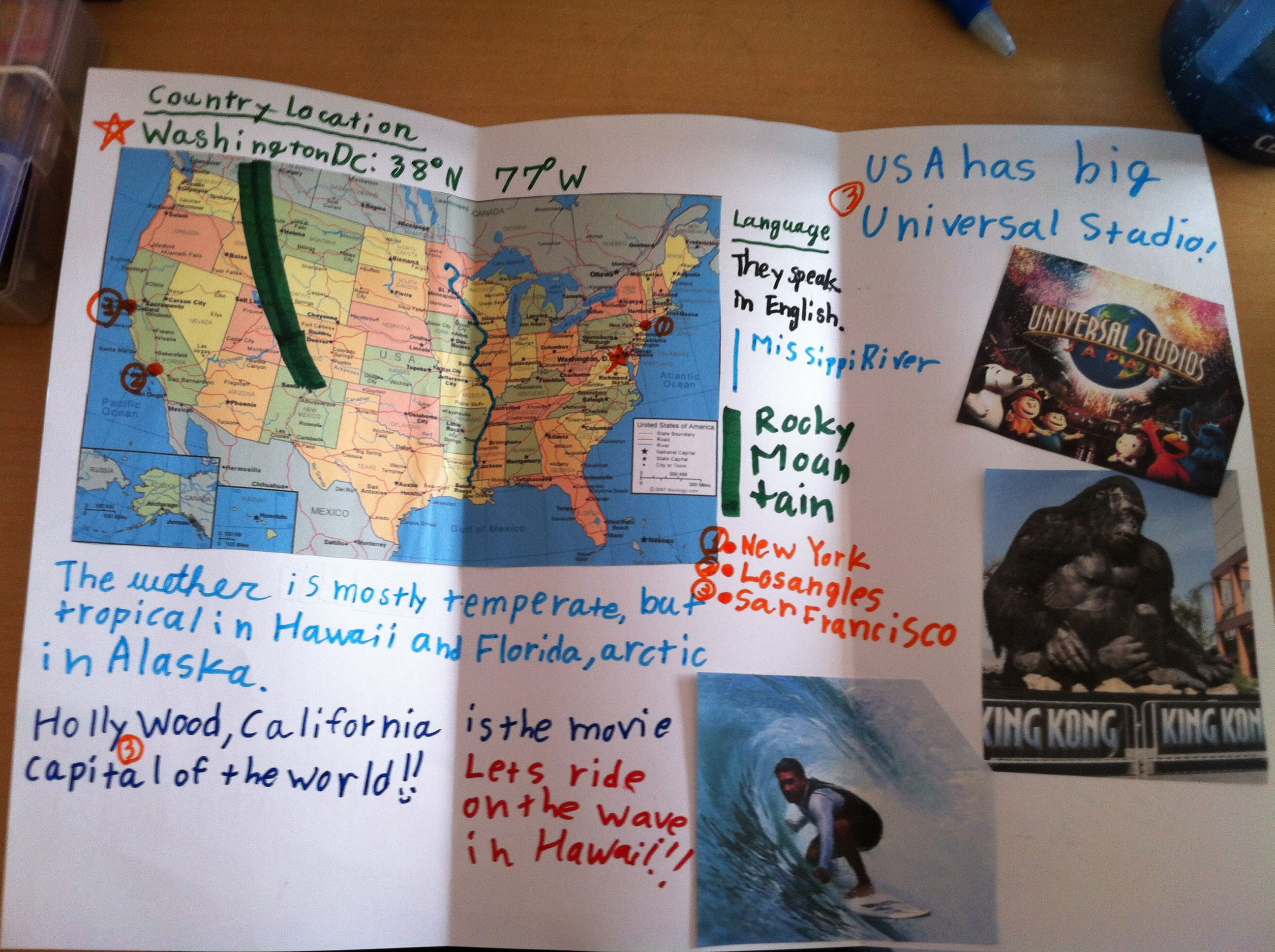 elementary  global studies  students create