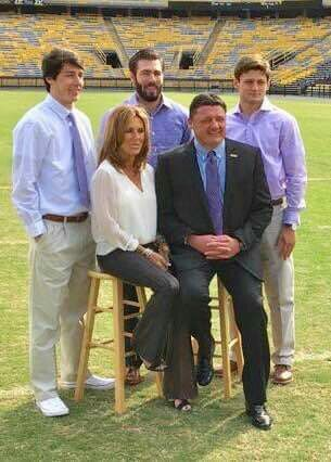 Coach O And His Family Lsu Football Lsu Tigers Football Lsu Baseball