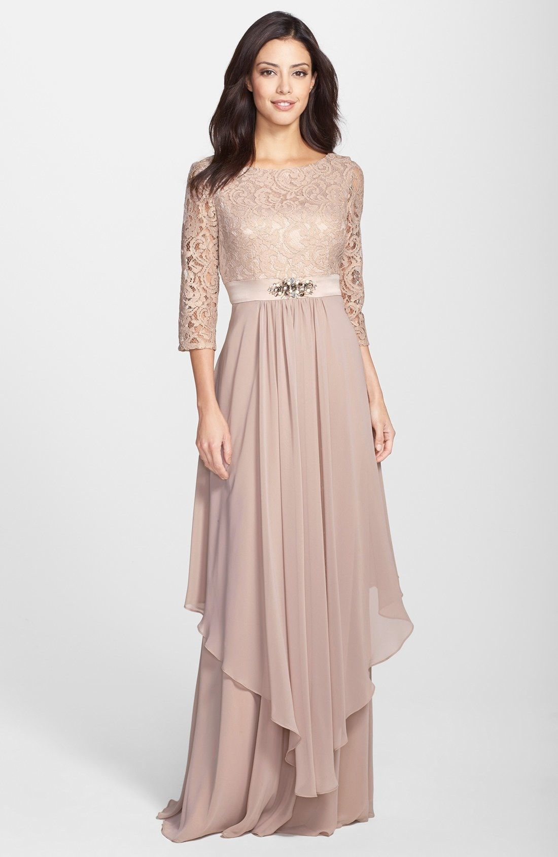 Eliza j embellished lace wedding ideas pinterest lace chiffon