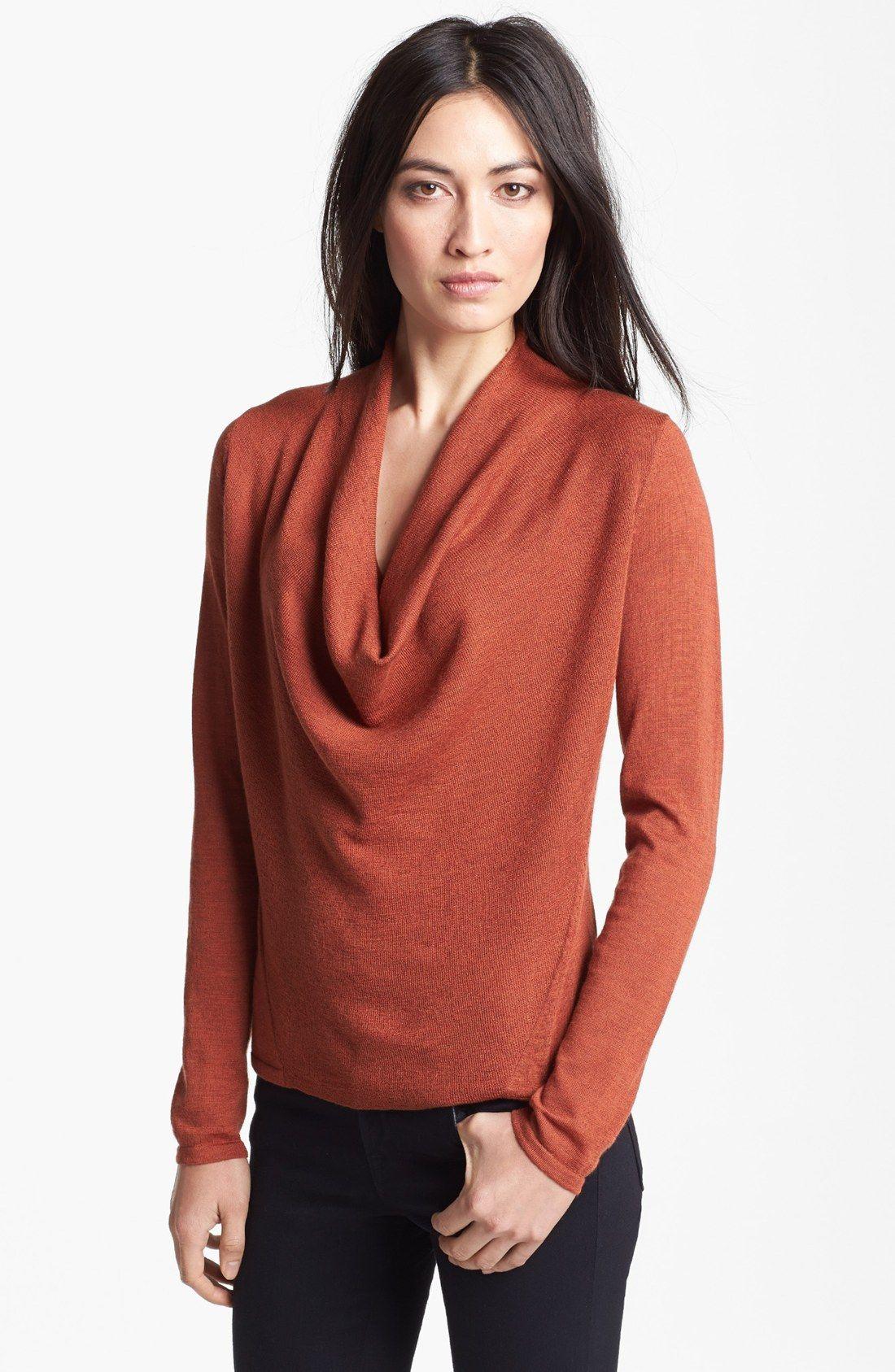e68878ab0429e ... Cowl Neck Ultrafine Merino Wool Sweater