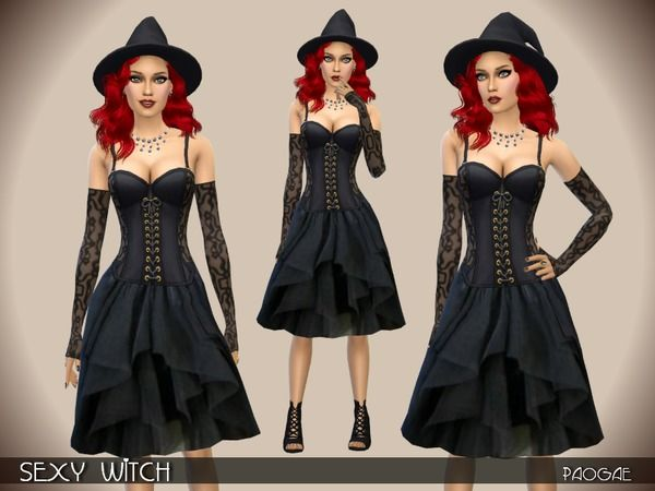 The Sims Resource: Witch by Paogae • Sims 4 Downloads