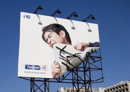 "Billboard / Formula Toothcare ""builds strong teeth"""
