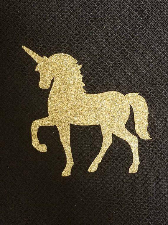 Glitter Unicorn Cutout Choose Colors Unicorn Outline