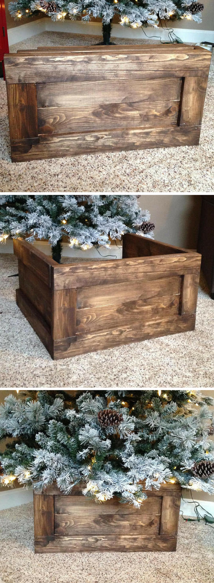 I Want Folding Christmas Tree Wood Box Stand Christmasdecor Farmhousedecor Ad Christmas Tree Box Christmas Decorations Rustic Diy Christmas Tree Skirt