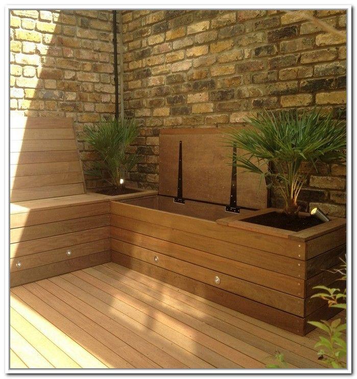 Deck Storage Ideas Patio Storage Apartment Patio Outdoor Bench