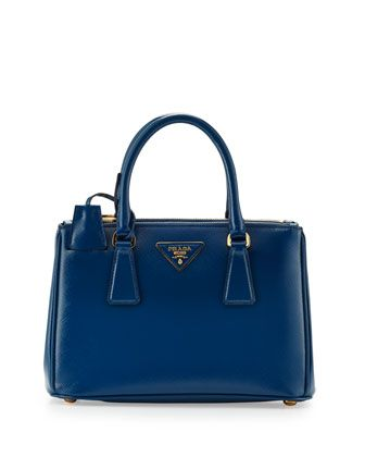 446b3ed39fcd Saffiano Vernice Mini Double-Zip Crossbody Bag, Blue (Cobalto) by Prada at  Neiman Marcus. Dreaming.