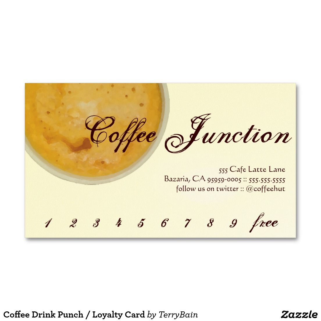 Coffee Drink Punch / Loyalty Card Business Card | Loyal to Coffee ...