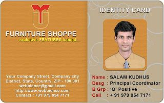 Idcard Templates  Furniture Idcard    Horizontal Idcard