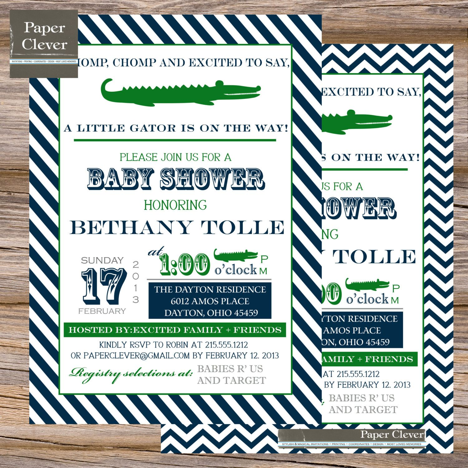 Boys baby shower invitation alligator vintage by paperclever, $13.00 ...