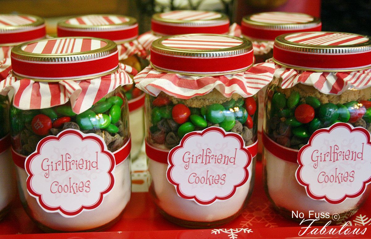 How To Decorate Mason Jars For Christmas Gifts Glamorous Pint Size Mason Jar Cookieschange The Labels And Give To Coworkers