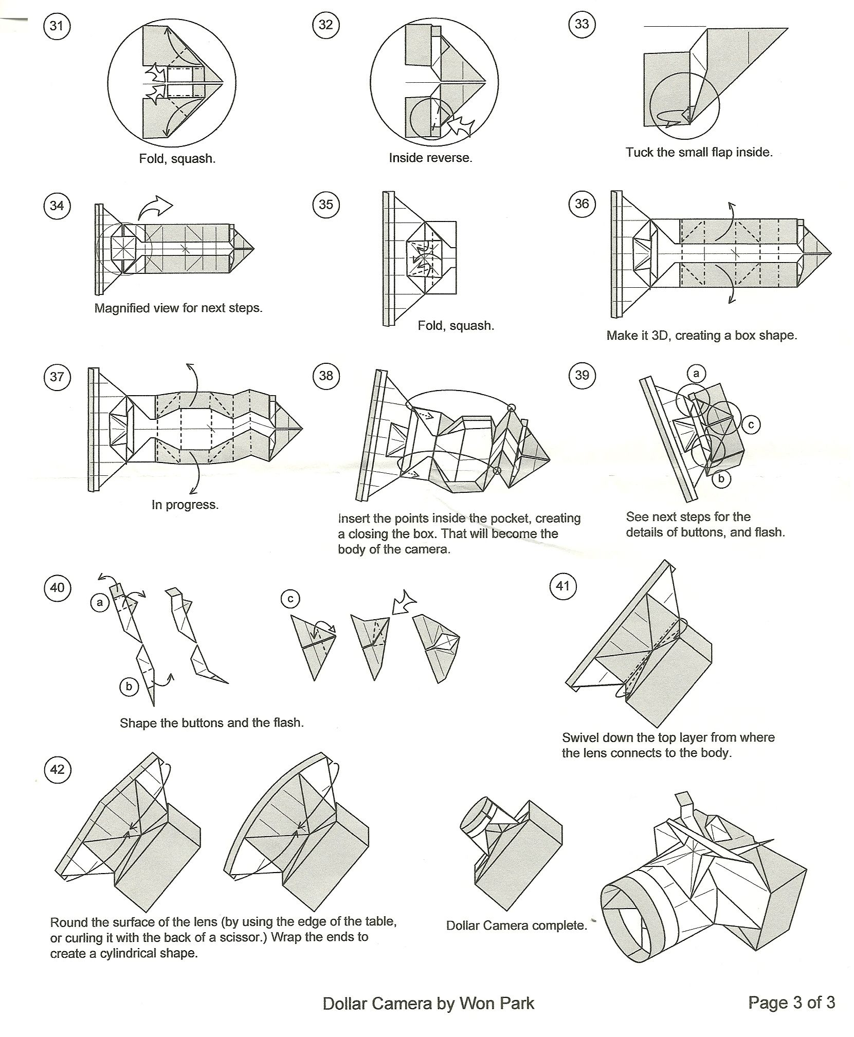 Step By Step Making Oragami People And Clothing Picturs