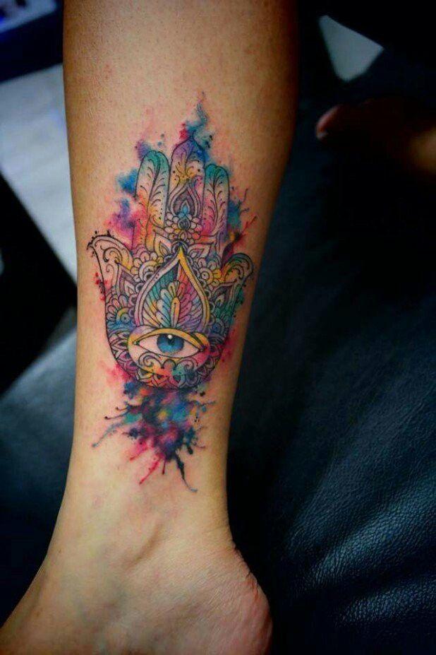 Inked Hamsa Tattoo Tatuagem Colors Alineymarques Tatuaje De Mano Hamsa Tatuaje De Mano De Fatima Tatuaje Hamsa