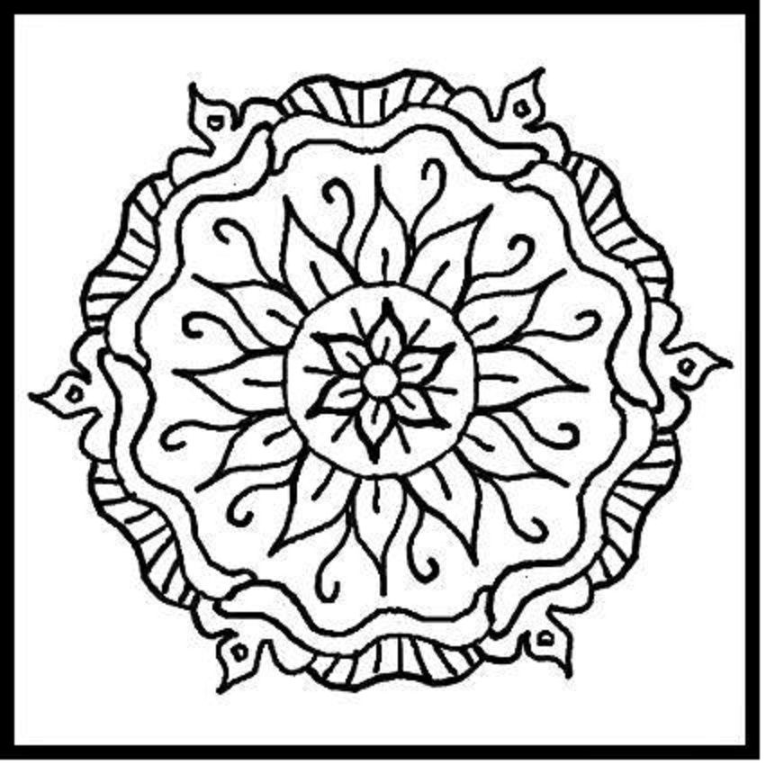 mandalas design in printable mandalas designs coloring pages is a very nice picture to color it has a flower design in it - Design Coloring Pages