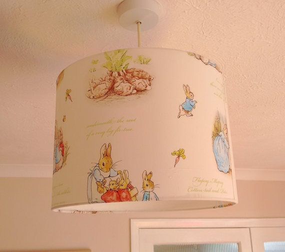 Beatrix potter lampshade or ceiling shade nursery beatrix potter lampshade or ceiling shade sciox Image collections