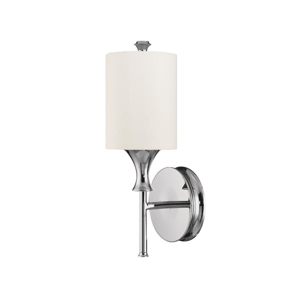 Find This Pin And More On Bathroom Capital Lighting Studio Sconce Polished Nickel With White Fabric Shade