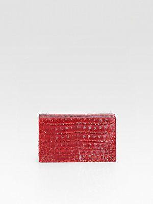 Nancy Gonzalez Croc Box Clutch