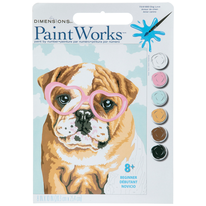 Dog Love Paint By Number Kit Love Painting Paint By