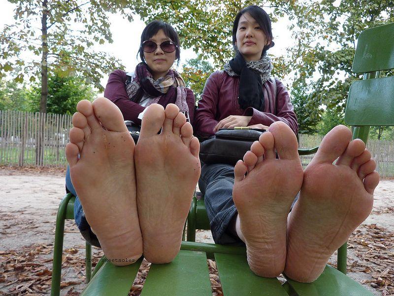 Mature asian woman feet