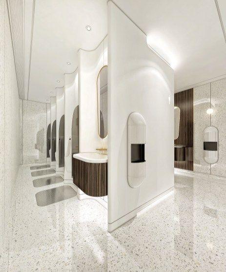 captivating pink bathroom design   Captivating public bathroom design ideas 38 - It's ...