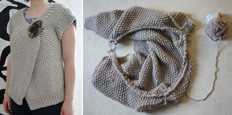 tricoter sur aiguille circulaire