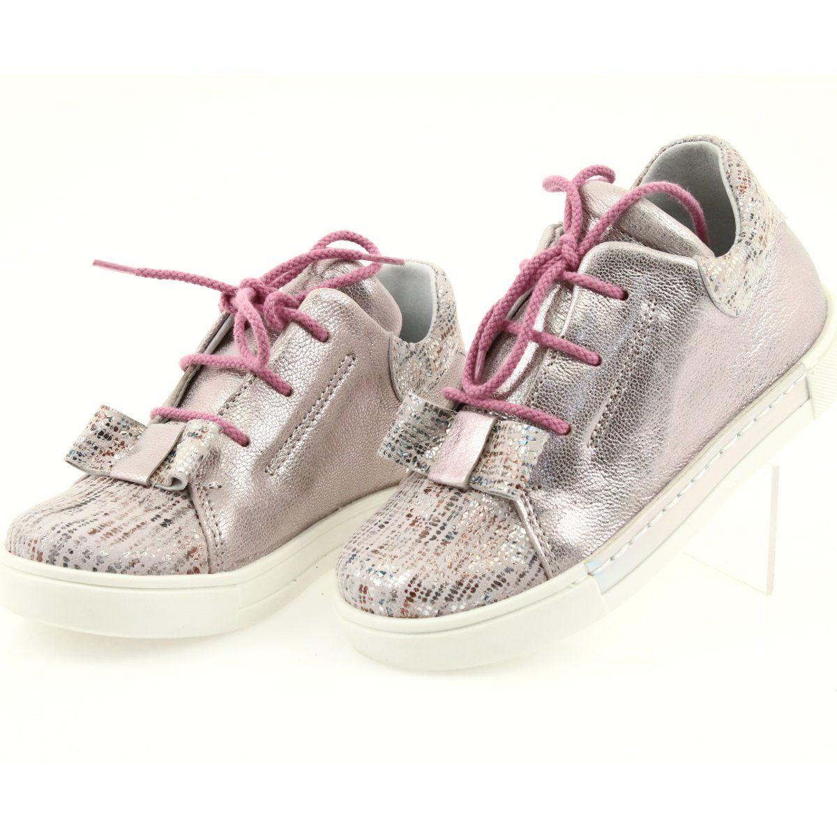 Buty Skorzane Sportowe Ren But 3303 Perlowy Roz Rozowe Shoes Leather Shoes Childrens Shoes