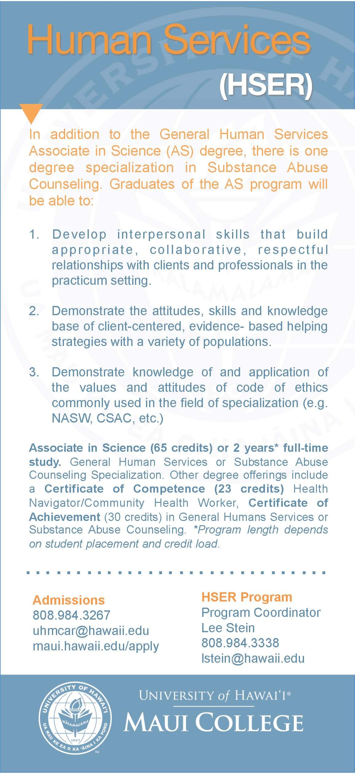 Pin By Uh Maui College On Program Cards Human Services Substance Abuse Counseling Interpersonal Skills