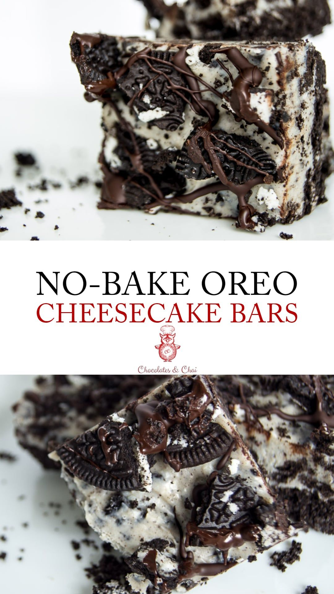 Photo of No Bake Oreo Cheesecake Bars
