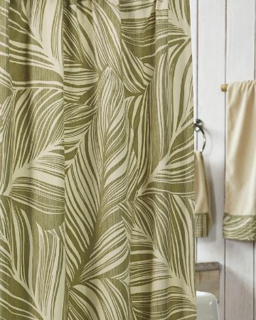 Tommy Bahama Montauk Drifter Shower Curtain Green Shower Curtains Curtains Bathroom Shower Curtains