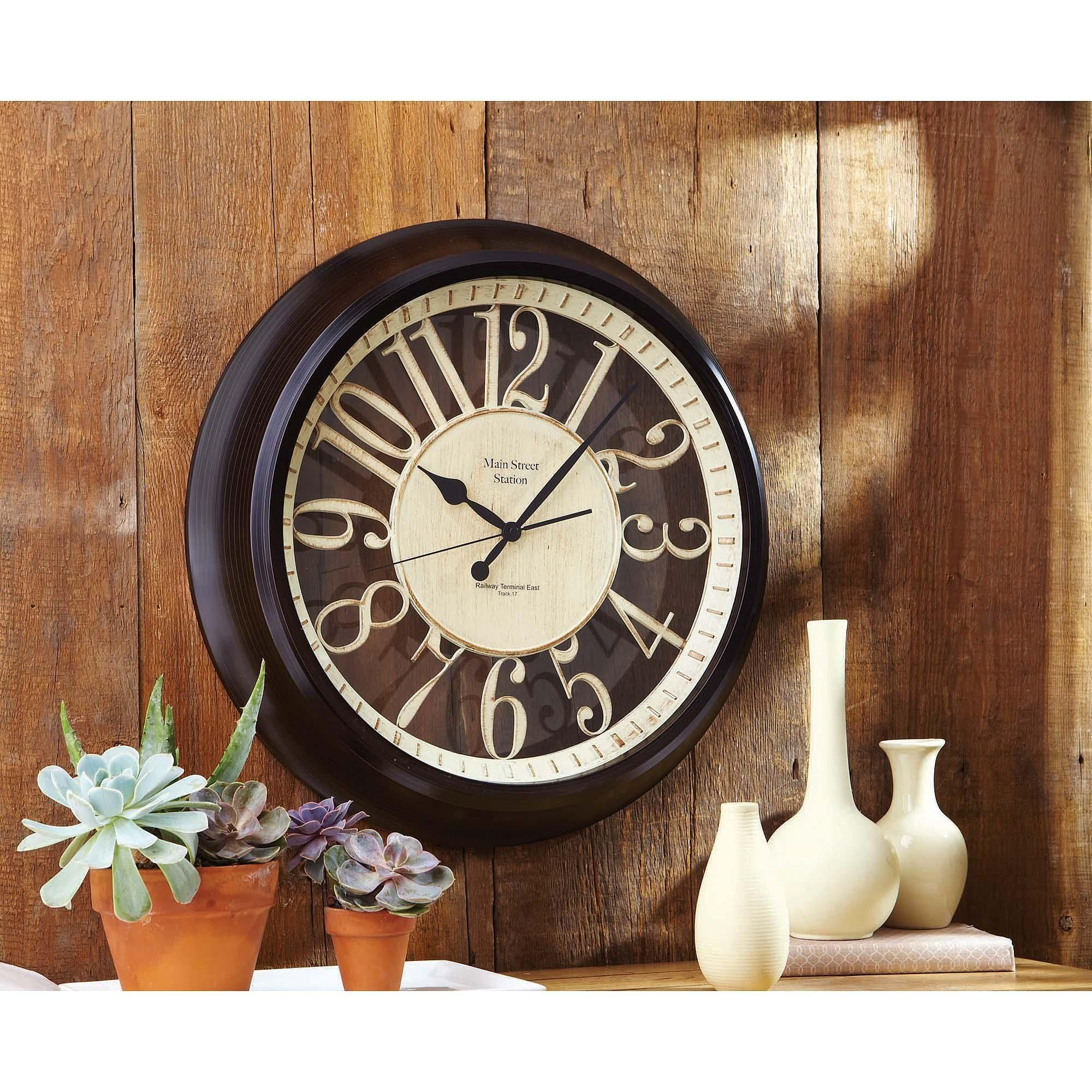 Better homes and gardens silhouette wall clock walmart